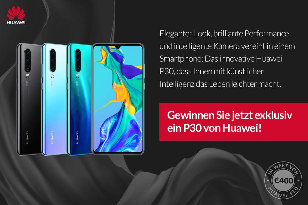 Huawai P30 gewinnen - Onlinegewinndirekt.de